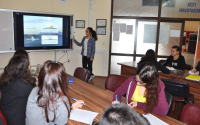 Lessons about volcanoes and earthquakes at Turkish school Antalya Yusuf Ziya Oner Fen Lisesi