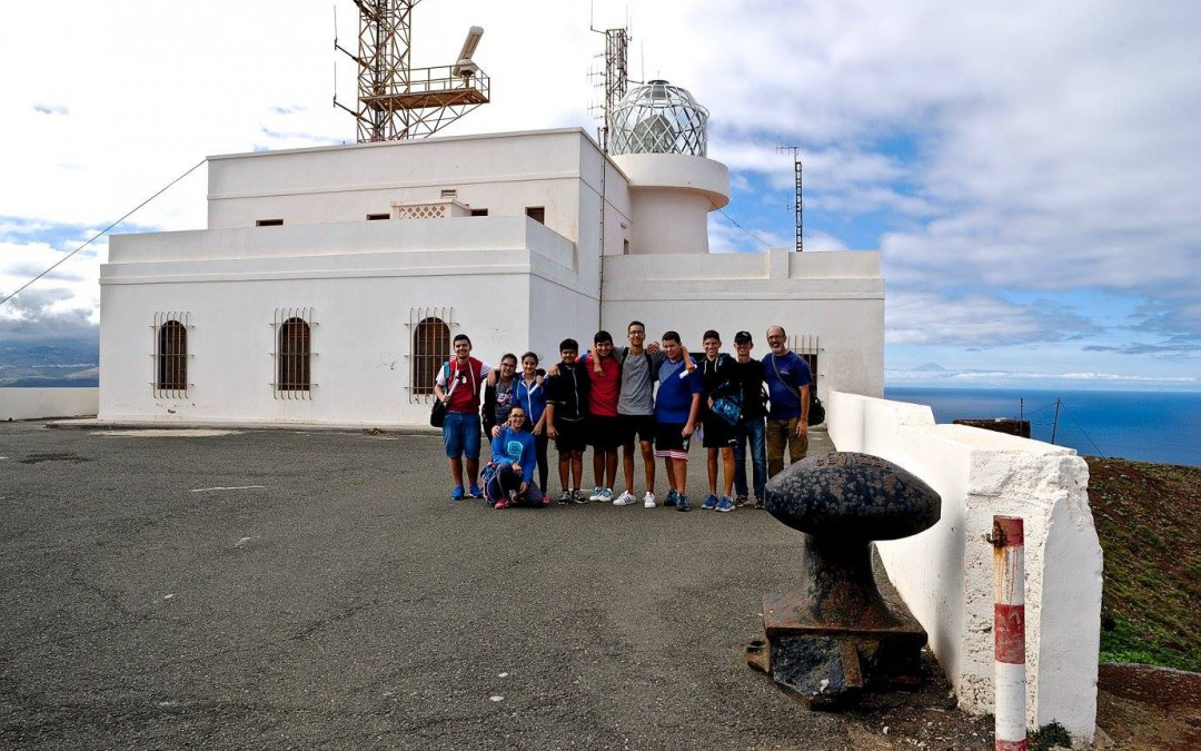 Students and teachers from the Spanish team visited the protected volcanic area of La Isleta