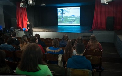 Lecture  at Polish school about extinct volcanoes of Lower Silesia Region