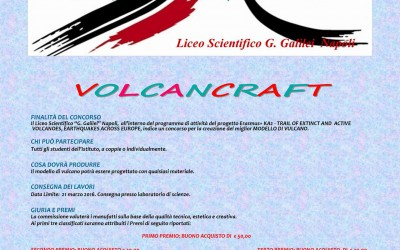 """Volcancaft"", the volcano model competition launched at Liceo Scientifico Galilei, Napoli."