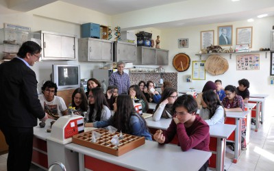 Geography lessons at Turkish school