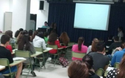 Students from Nueva Isleta Toni Gallardo School delivered a lesson to their mates on the volcanic area of La Isleta