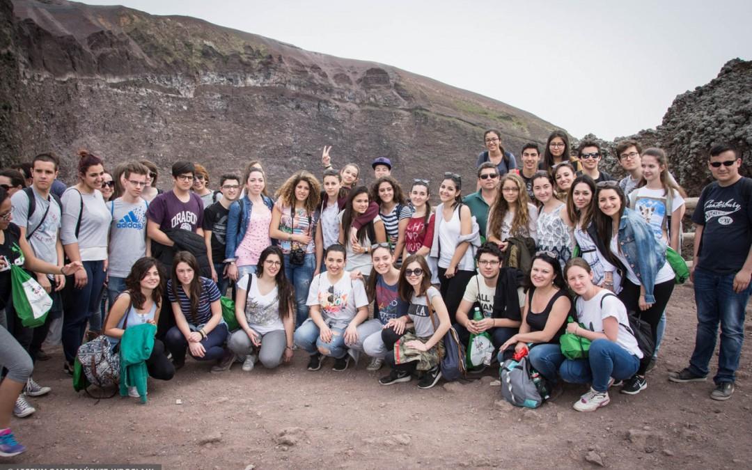 The presentation of Vesuvius done by Italian school.