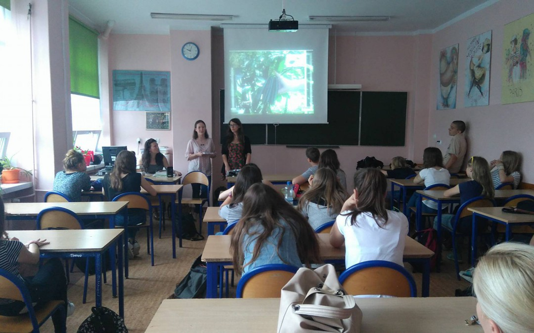 The project promotion at Polish middle schools.