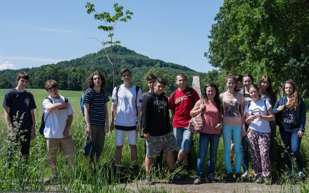 The excursion of Polish students to the Land of Extinct Volcanoes.