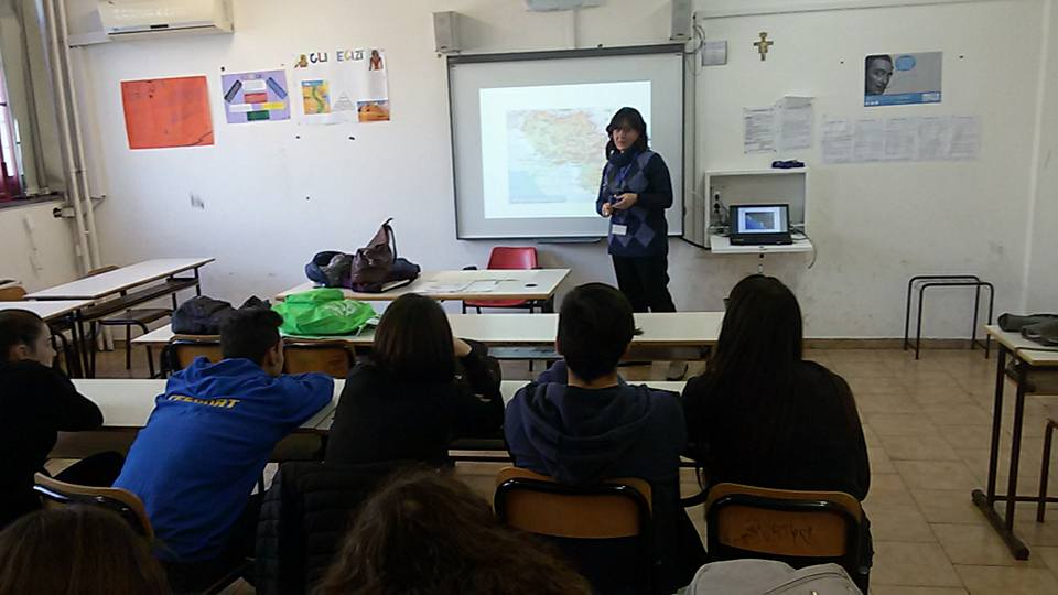Lesson about nature of Campania  at Italian School